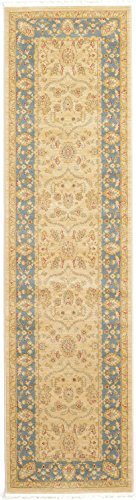 Unique Loom Edinburgh Collection Oriental Traditional French Country Champagne Runner Rug (2' 7 x 10' 0) - This rug is perfect for those high traffic areas in your home. It's also kid and pet friendly! This rug is waterproof, mold and mildew resistant, stain resistant, and does not shed. Cleaning Instructions:  As long as it's a short-pile, indoor rug, we recommend spot cleaning with resolve, and regular vacuuming is recommended. You can use a carpet cleaner (shampooer) but it should be dried immediately and evenly. - runner-rugs, entryway-furniture-decor, entryway-laundry-room - 41wumU7bOrL -