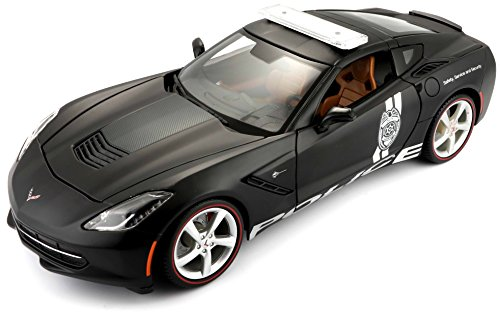 (Maisto 2014 Corvette Stingray Police Diecast Vehicle (1:18 Scale) )
