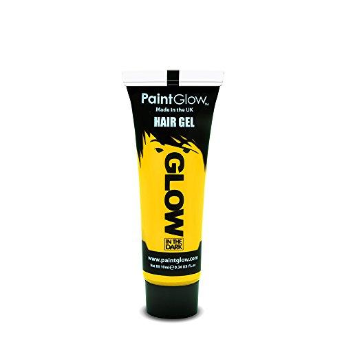 Dark Mad Hatter Makeup (Paint Glow Glow In The Dark Hair Gel - Yellow 10ml)