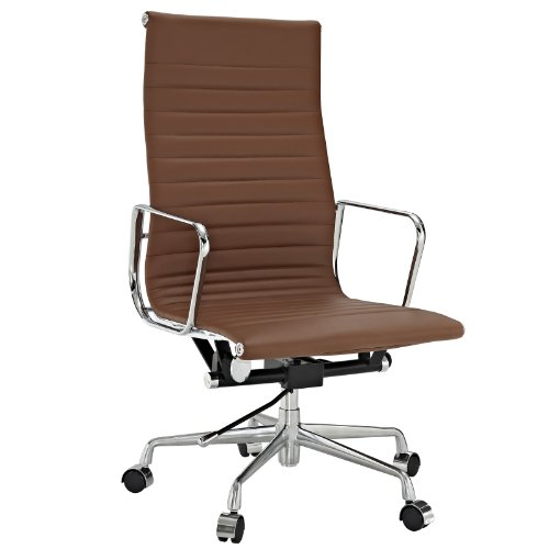 Modway Ribbed High Back Office Chair in Terracotta Genuine ()
