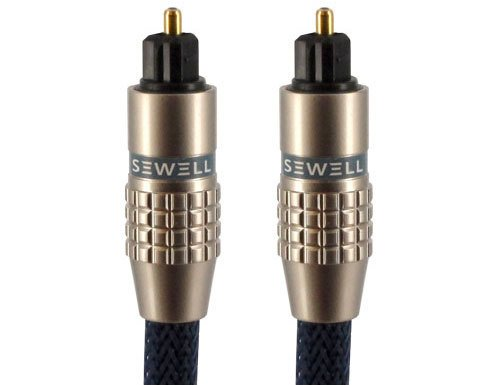 Sewell Premium Toslink Fiber Optic Cable, 25 ft by Sewell Direct