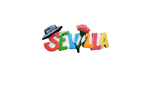 Imán 3D para nevera de Sevilla España, diseño de letras estilo ...
