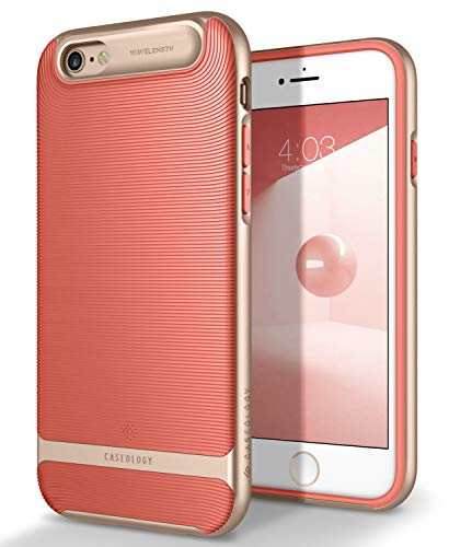 Caseology [Wavelength Series] iPhone 6S Plus/iPhone 6 Plus Case - [Stylish & Protective] - Coral Pink