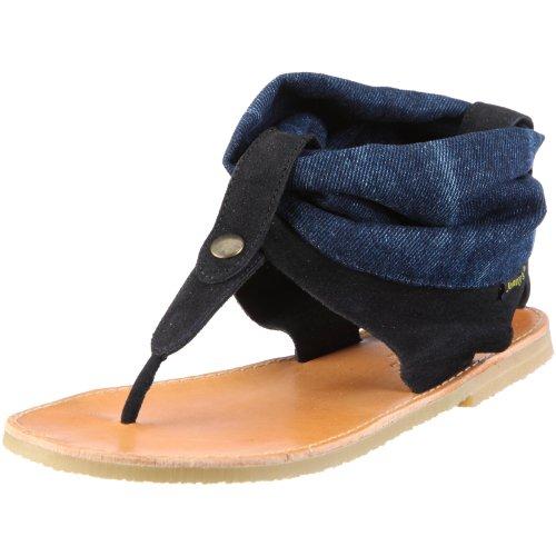 Jonnys Monica 0869 - Sandalias de vestir de ante para mujer Azul