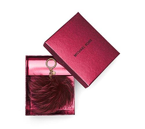 - Michael Kors Fur Pom Pom Keychain Charm Red