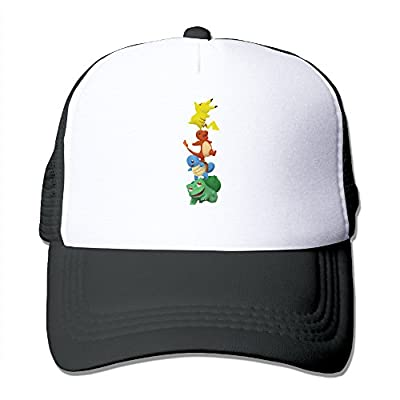 Pokemon We Are All In This Together Trucker Mesh Snapback Hat Black