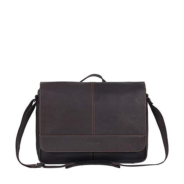 Full-Grain Colombian Leather Crossbody Laptop Case 3