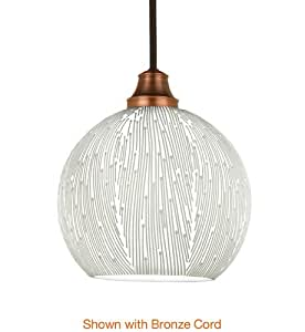 WAC Lighting LTK-F4-488WT/BK Park Slope Line Voltage L Track Pendant with White Shade, Black Socket and Track Fitting