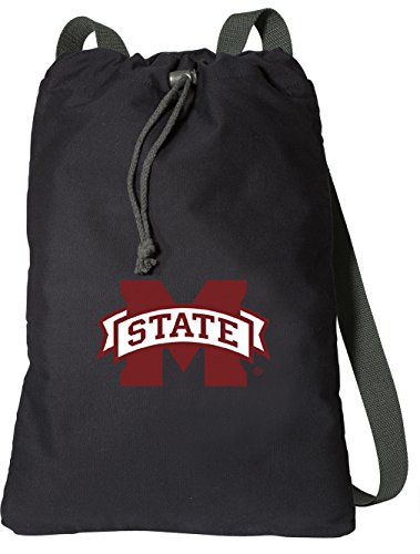 Mississippi State University Drawstring Backpack Rich Canvas MSU Bulldogs Cinch Bag