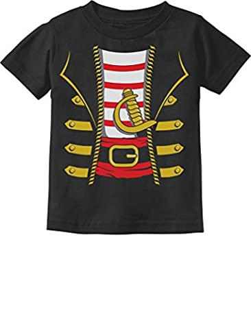 Halloween Pirate Buccaneer Costume Outfit Suit Toddler/Infant Kids T-Shirt 4T Black