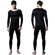FITEXTREME Mens MAXHEAT Fleece Compression Performance Long Johns Thermal Underwear