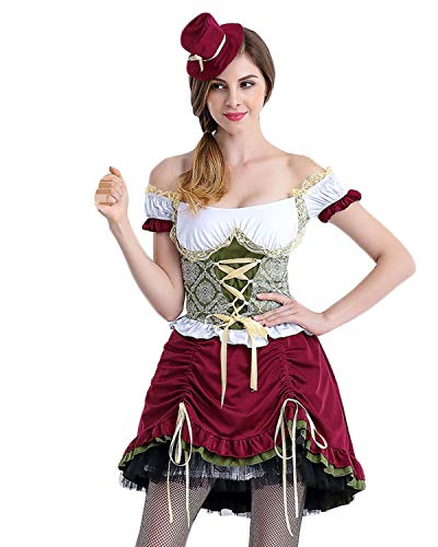Quesera Women's Oktoberfest Costume 3 Pieces Bavarian