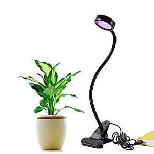 Led plant grow light 8w 2 level dimmable for for Indoor gardening amazon