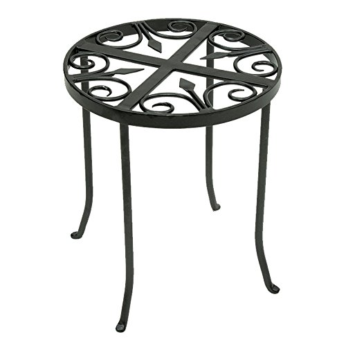 Achla Designs Round Trivet Plant Stand (Iron Planters Wrought Outdoor)