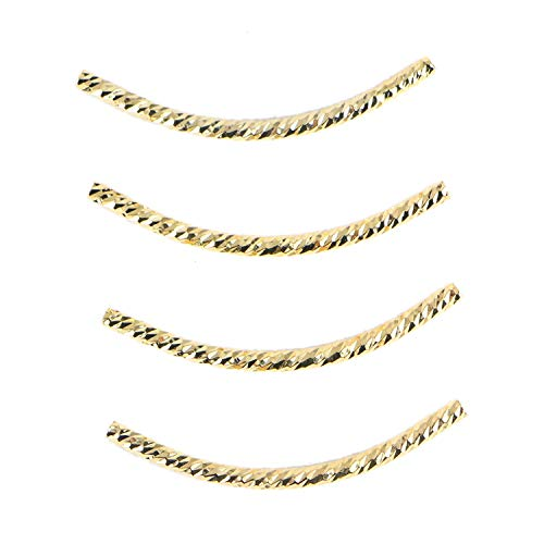 Monrocco 10 pcs 24k Gold Filled Long Curved Noodle Tube Spacer Beads40mm X ()