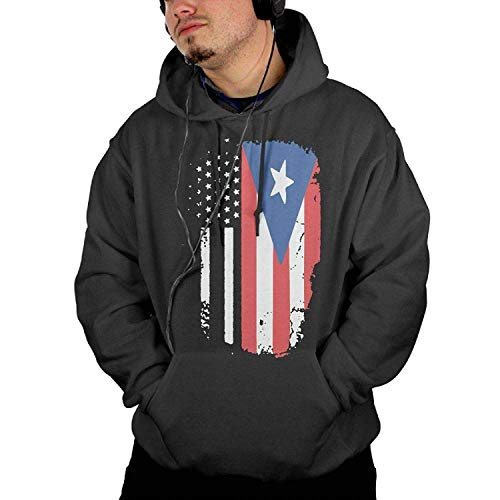 Personalized Popular Man Hoodies Pullover American Puerto Rico Flag Jacket Men's Casual Hoody Sweatshirt Kangaroo Pocket