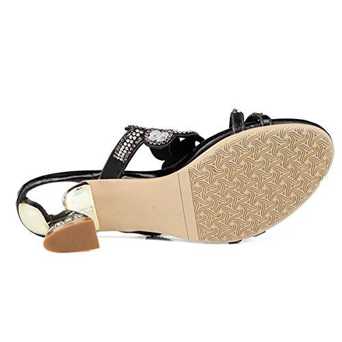 à européennes Élégantes à Américaines Open Chaussures Sandales Diamant et Summer Sexy Mode Toe pour Rugueux Strass New de Hauts Talons Femmes xie avec Femmes ztqX1PU
