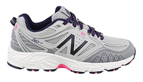 New Balance Women's Cushioning 510V3 Running Shoe Trail Runner, Silver Mink/Gunmetal, 8 D US