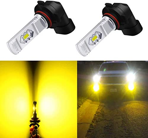 Dantoo 2 x 2504 Bulbs PSX24W LED Fog Lights Extremely Bright 6000K 16 SMD 12276 LED Bulbs High Power Fog Light Lamp Replacement for DRL or Fog Lights Xenon White
