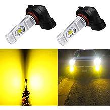 Alla Lighting 3800lm Xtreme Super Bright 9006 LED Bulbs Fog Light High Illumination ETI 56-SMD LED 9006 Bulb HB4 9006 Fog Lights Lamp Replacement - 3000K Amber Yellow