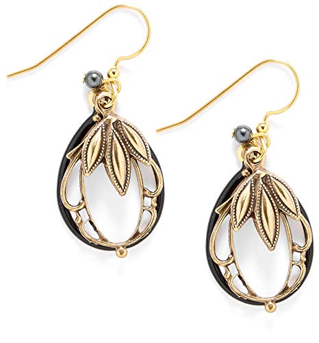 Silver Forest Oval Layered Dangle Earrings One Size