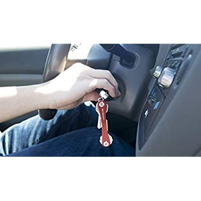 KeySmart - Compact Key Holder and Keychain Organizer (up to 8 Keys, Red): Office Products