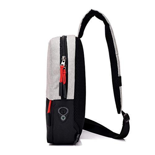Messenger Travel Daypack Shoulder Male Bag Men's Crossbody Sling Black Bags Women Canvas For Chest Unisex zC8wtqg
