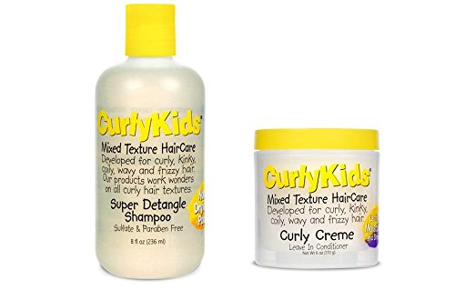 CurlyKids Mixed Haircare – Curly Creme Conditioner & Super Detangling Shampoo Bundle