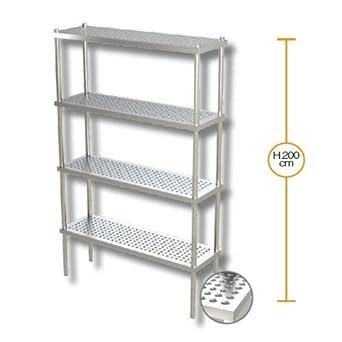 El estante 80x40x200 estanterías 4 estantes perforados de ...