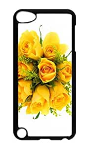 Ipod 5 Case,MOKSHOP Awesome bunch yellow roses Hard Case Protective Shell Cell Phone Cover For Ipod 5 - PC Black