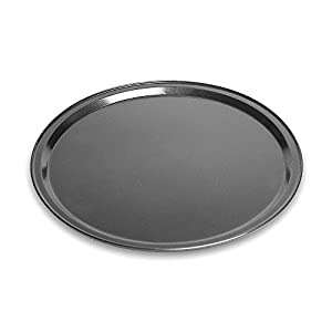 Pizza Tray Pan Baking Platters Shallow Dish Non-Stick Black Aluminum Alloy