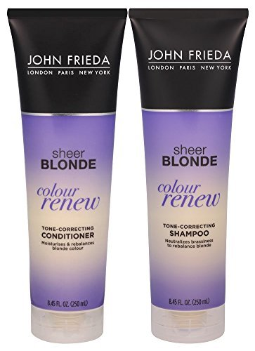 John Frieda Sheer Blonde Colour Renew Tone-Correcting, DUO set Shampoo + Conditioner, 8.45 Ounce, 1 each ()