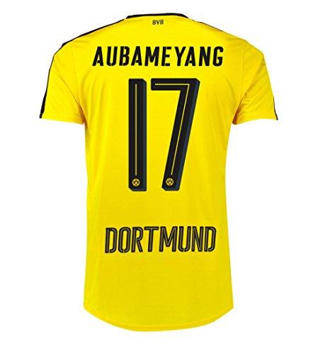 Puma Aubameyang #17 BVB Borussia Dortmund Home Soccer Jersey 2016 (2XL)