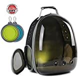 Hcupet Cat Outdoor Carrying Backpack - Space Capsule Pet Carrier for Small Dog - Transparent Waterproof Cat Holding Backpack (Polarized Brown)