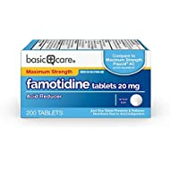 Basic Care Maximum Strength Famotidine Tablets, 200 Count