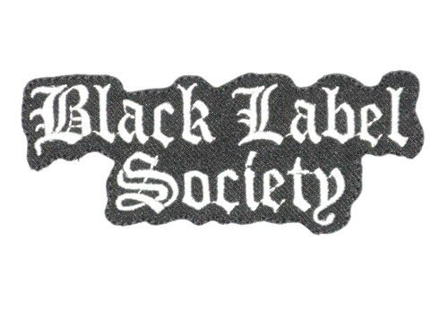 BLACK LABEL SOCIETY Logo Iron On Patch 4.5