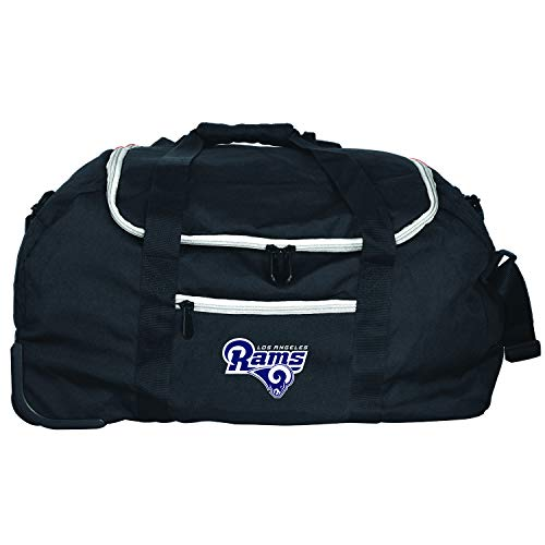 (Denco NFL Los Angeles Rams Mini Collapsible Duffel, 22-inches, Black)