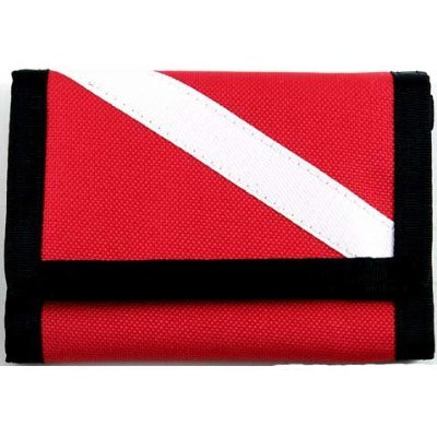 New Cordura Nylon Dive Flag Scuba Wallet with Diver Down Flag (Dive Nylon Flag)