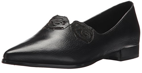 Azura by Spring Step Womens Fantasic Pointed Toe Flat Black