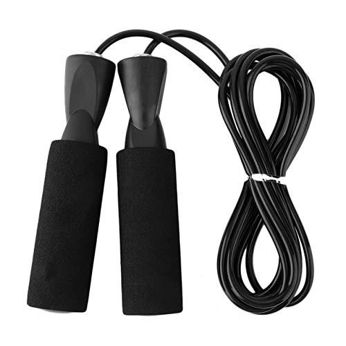 3M springsnelheidstouw voor training, sporttraining, oefeningen, fitness, boksen, afvallen, gewicht calorieën, zwart, 7…