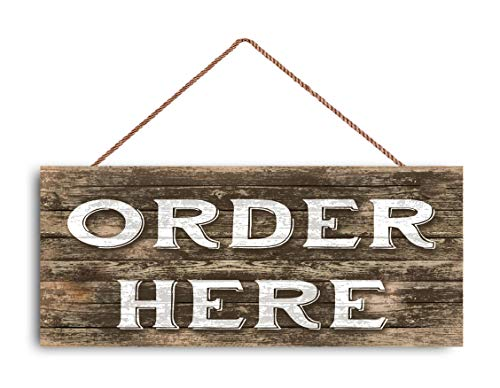 SWQAA Order HERE Sign, Restaurant Sign, Rustic Decor, 6