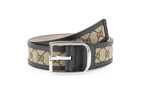 Gucci Original GG Canvas with Leather Belt, Brown/beige (36-38/95 (Gucci Canvas Leather)