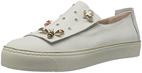 Stuart Weitzman Women's Queenbee Sneaker, Snow nub, 7 Medium - Wedge Platform Weitzman Shoes Stuart