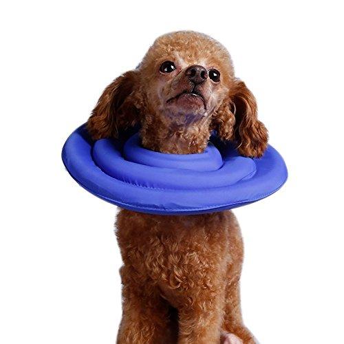 Liheyin Couture Fellpflege - Halsband Soft Recovery (für Hunde & Katzen) Hunde Katzen Haustier Halskrause Schutzkragen Um Kratzen Zu Verhindern (XXL, Blau)