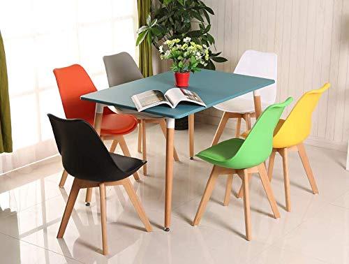 Ensemble de 4 Chaises de Cuisine pas cher en Cuir ( cliquez pour voir les couleurs dispo )