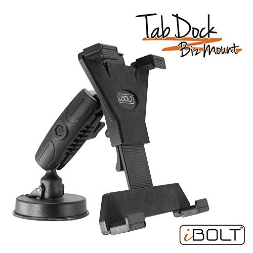 - iBOLT Tabdock BizMount -Holder/Mount with Suction Cup Base- for Your Windshield, Dashboard, or Desk - Compatible with All 7