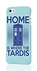 Home Is Where The Tardis Pattern Image - Protective 3d Rough - Hard Plastic 3D Case - For Ipod Touch 4 Phone Case Cover