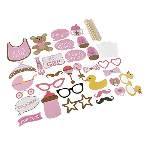 BROSCO Its A Girl Photo Props Baby Girl Baby Shower Gender Reveal Party Supplies