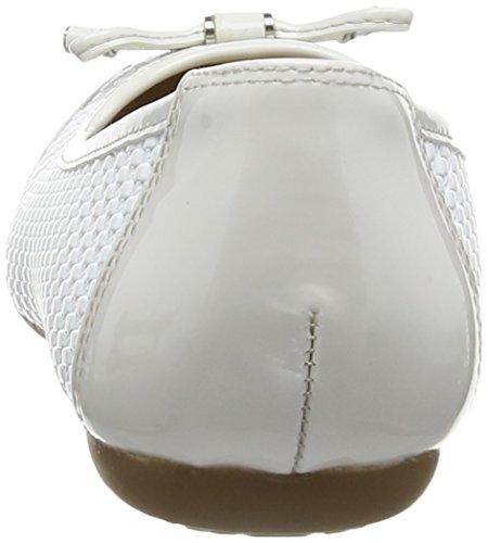 Geox Lola C - talón cerrado de cuero mujer blanco - White (White/Off White)