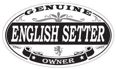 - English Setter Oval Sticker